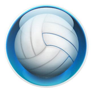 Botones del cajón del voleibol de los deportes pomo de cerámica