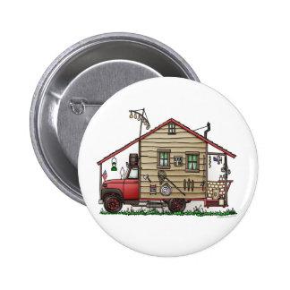 Botones del campista del Hillbilly del campesino s Pin Redondo De 2 Pulgadas