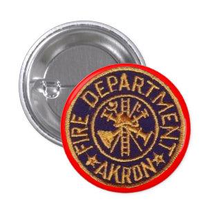 Botones del cuerpo de bomberos de Akron Ohio Pin Redondo De 1 Pulgada