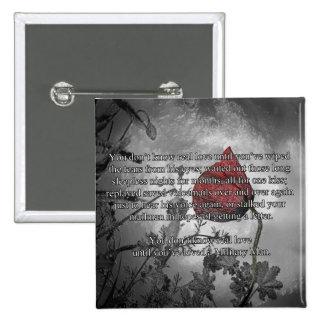 Botones del día de la conmemoración del militar pin cuadrado