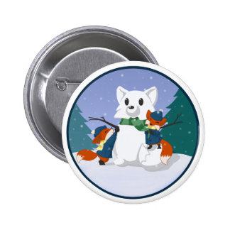 Botones del día de la nieve de Kitsune Pin