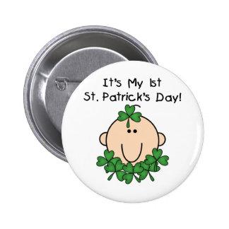 Botones del día de St Patrick del bebé Pin Redondo De 2 Pulgadas