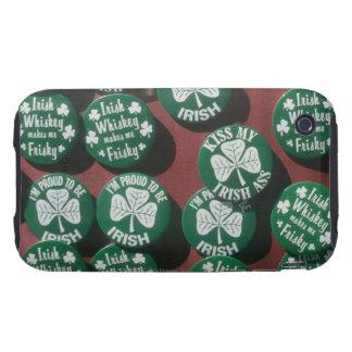 Botones del día de St Patrick que exhiben orgullo  Tough iPhone 3 Fundas