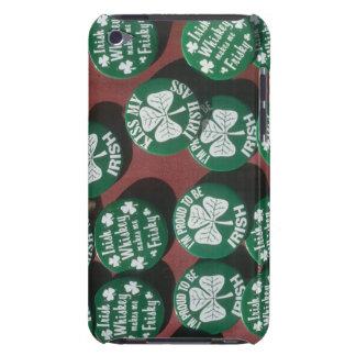 Botones del día de St Patrick que exhiben orgullo Funda iPod