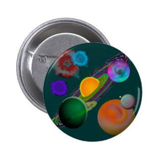 Botones del diseño de la Sistema Solar Pin