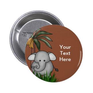 Botones del elefante pin redondo de 2 pulgadas