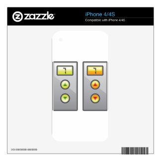 Botones del elevador skins para eliPhone 4