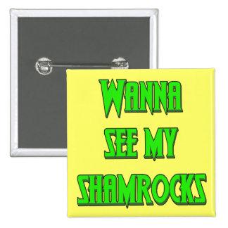 Botones del irlandés del día de St Patrick Pin