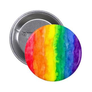 Botones del lavado del arco iris pin redondo de 2 pulgadas