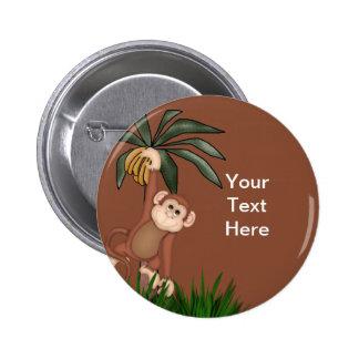 Botones del mono pin redondo de 2 pulgadas