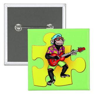 Botones del músico del mono