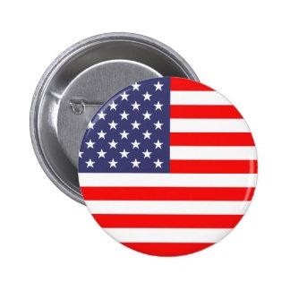 Botones del pinback de la bandera americana pin redondo de 2 pulgadas