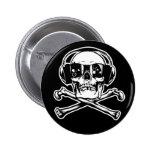 Botones del pirata de Digitaces Pin Redondo De 2 Pulgadas