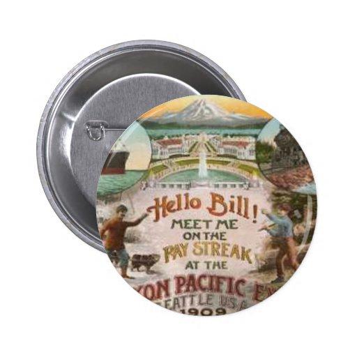 Botones del poster del viaje del vintage pins