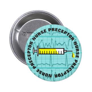 Botones del Preceptor de la enfermera Pin Redondo De 2 Pulgadas