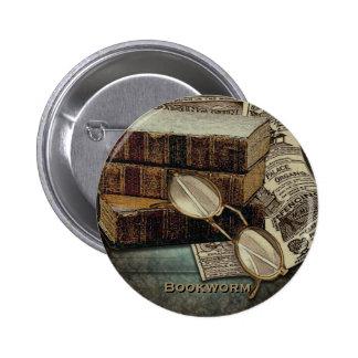 Botones del ratón de biblioteca de la lectura del  pin redondo de 2 pulgadas