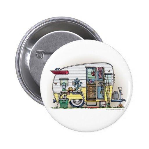 Botones del remolque de campista de Shasta Pin