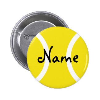 Botones del tenis con nombre adaptable pin