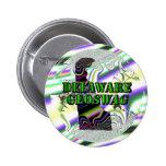 Botones del tesoro de los regalos de Delaware Geos Pins