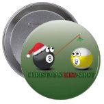 Botones del tiro del beso del navidad pin