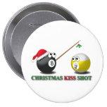 Botones del tiro del beso del navidad pins
