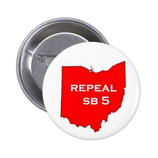 Botones del votante de Ohio SB5 de la derogación Pin