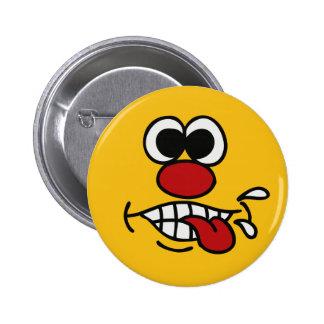Botones divertidos de la cara pin redondo de 2 pulgadas
