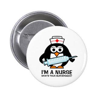 Botones divertidos del oficio de enfermera con la pin redondo de 2 pulgadas