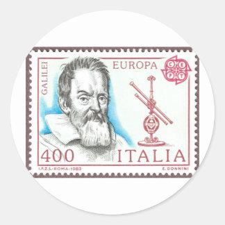 Botones e imanes de Galileo Galilei Etiqueta Redonda