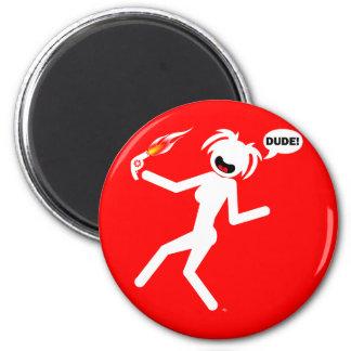botones e imanes del peligro del Soplo-secador Imán Redondo 5 Cm