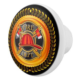 Botones elegantes del cajón del cuerpo de bomberos pomo de cerámica