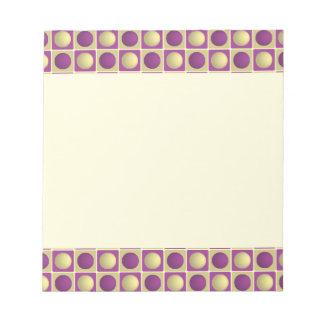 Botones en libreta de la púrpura de los cuadrados libretas para notas