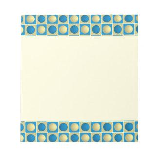 Botones en libreta del azul de los cuadrados libretas para notas