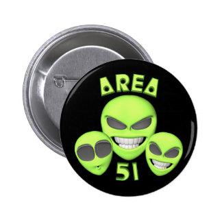 Botones extranjeros del área 51 pin
