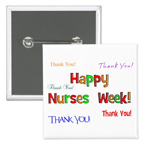 Botones felices de la semana de las enfermeras pins