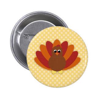 Botones lindos de Turquía de la acción de gracias