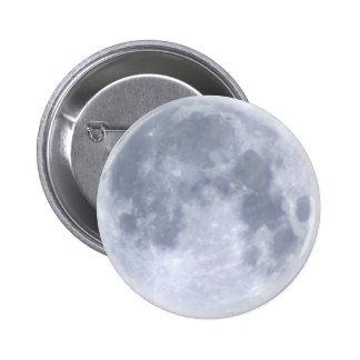 Botones lunares de la LUNA LLENA Pin Redondo De 2 Pulgadas