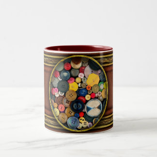 - Botones - manojo de costura de botones Taza De Café De Dos Colores