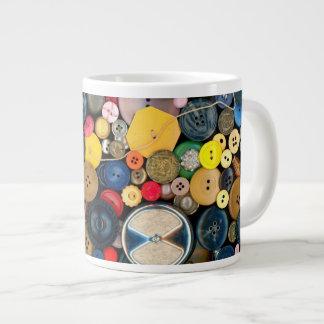 - Botones - manojo de costura de botones Taza De Café Grande