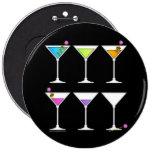 Botones - martinis que van, el ir, IDO Pin