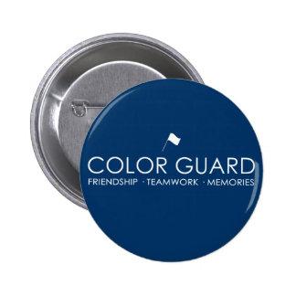 Botones modernos del guardia de honor pin redondo de 2 pulgadas