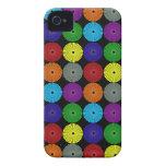 Botones multi coloridos de los discos de los círcu Case-Mate iPhone 4 protectores