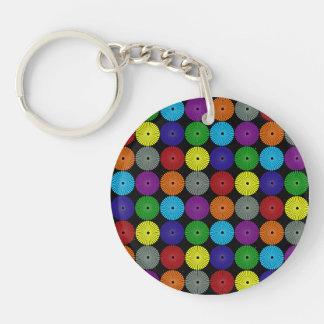 Botones multi coloridos de los discos de los círcu llaveros