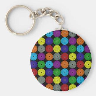 Botones multi coloridos de los discos de los círcu llaveros personalizados