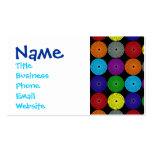 Botones multi coloridos de los discos de los tarjetas de visita