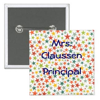 Botones multicolores personalizados de las pin cuadrado