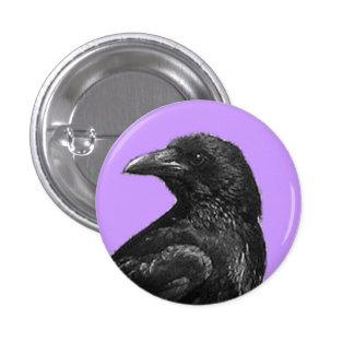 Botones negros del cuervo pin redondo de 1 pulgada