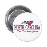 Botones patrióticos de Carolina del Norte Pin