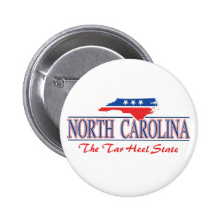 Botones patrióticos de Carolina del Norte Pin Redondo De 2 Pulgadas