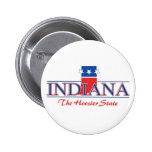 Botones patrióticos de Indiana
